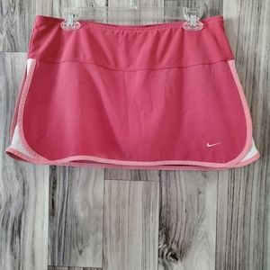 Nike Fit Dry Pink White Tennis Skirt Size Medium